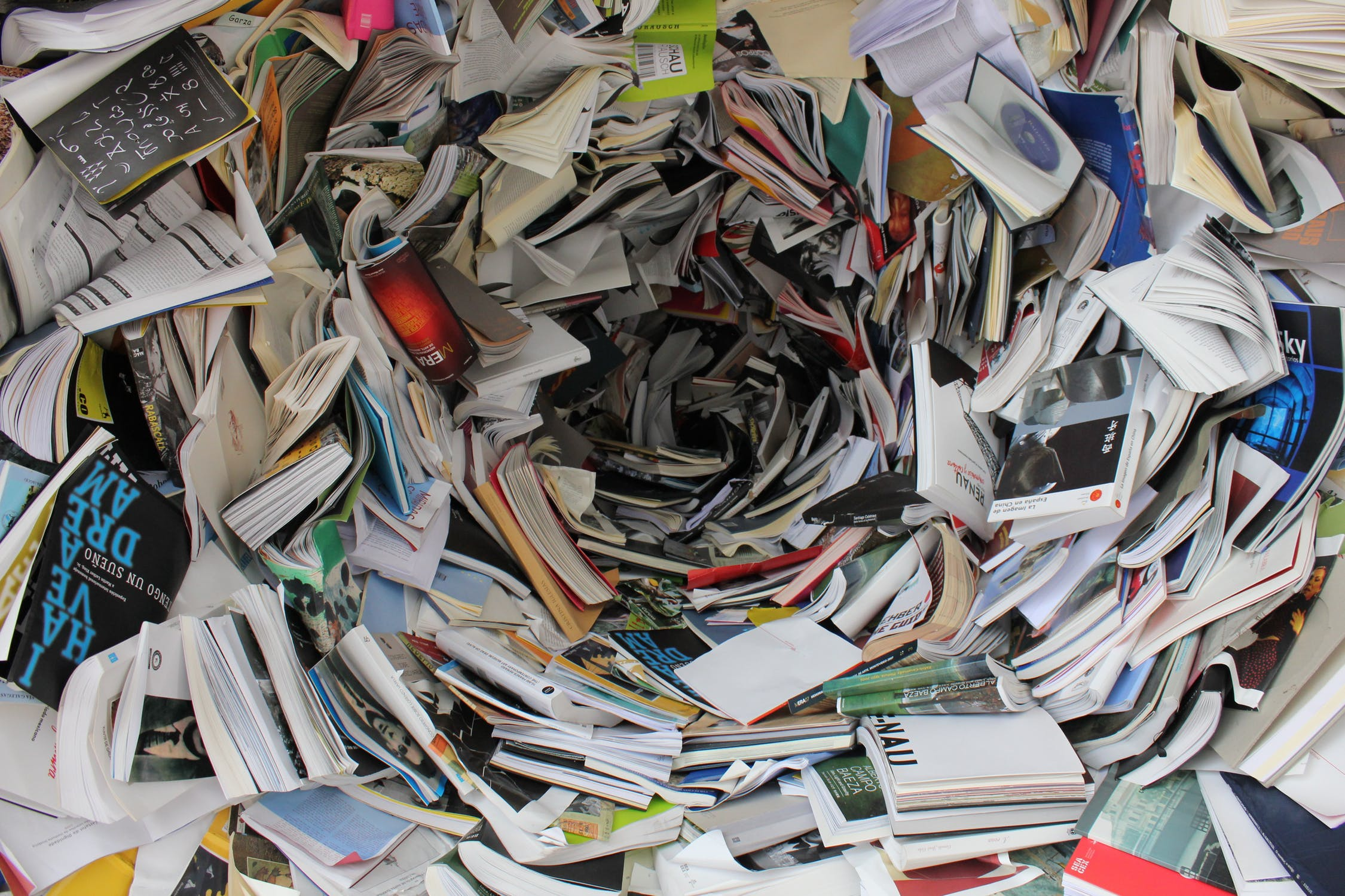 Books for shredding